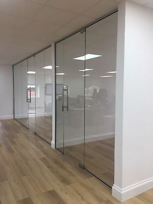 Office Glass Partitions made with 10mm Toughened Glass