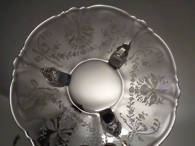 HEISEY ORCHID Vintage CRYSTAL Etched BOWL / DISH 3-Toed of Dolphin
