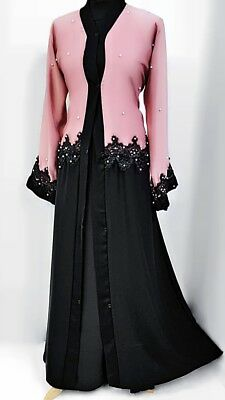 Abaya Jilbab Dubai Nidha Lace Design with Pearls