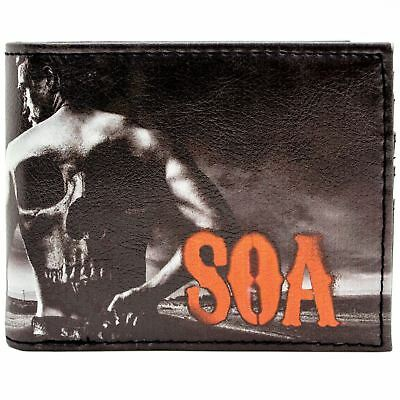 New Official Fox Sons Of Anarchy Jax Teller Black Coin & Card Bi-Fold Wallet