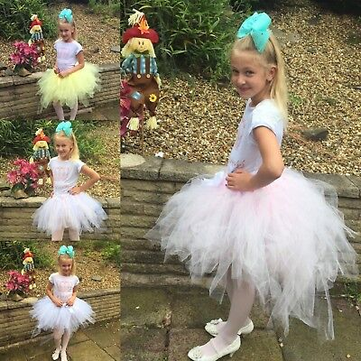 Fancy Tutu Skirt Pink Princess Girls Birthday Party Age 1 2 3 4 5 6 7 8 gift
