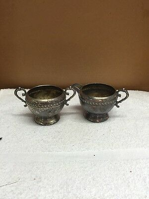 Vintage Wm. A. Rogers Silver Plated Sugar And Creamer Set