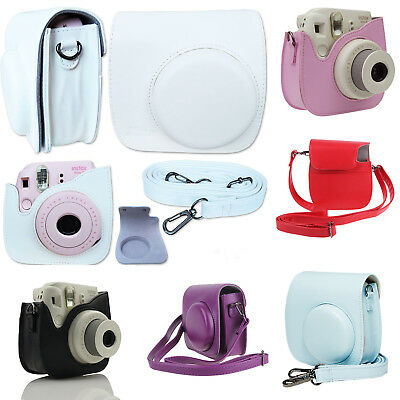 For Fujifilm Fuji Instax Mini 8 9 Film Camera PU Leather Bag Shoulder Cover Case