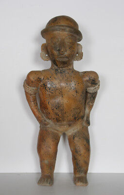 Pre-Columbian Artifact, Nayarit Guardian Figure, Terracotta Sculpture