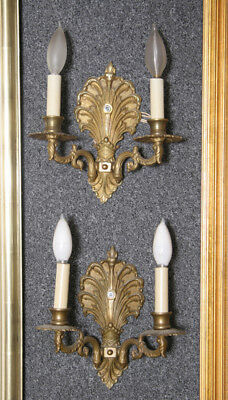 Pair of Electric Two Arm Wall Sconces