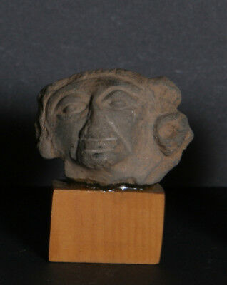 Pre-Columbian Artifact, Mexico possibly Zapotec culture Head Fragment, Terra Co
