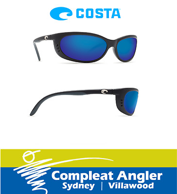 Costa Del Mar Fathom Black 580G Blue Mirror Sunglasses BRAND NEW At Compleat Ang