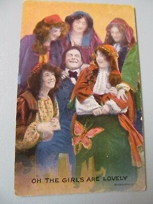 "Vintage postcard - BAMFORTH & Co ""OH The Girls are Lovely"" - unused"
