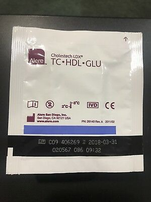 Alere Cholestech Ldx Tc Hdl Glu Cassette 10-990 Lot Of 10