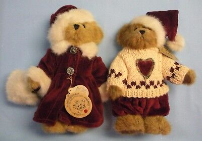 Boyds Plush . Winter/Christmas . Bailey & Edmund . With Tags