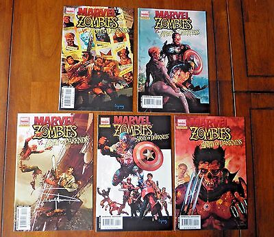 Marvel Zombies vs Army of Darkness #1-5 2 3 4 Complete Run Set 1st Prints VF/VF+