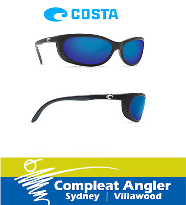 Costa Del Mar Fathom Black 400G Blue Mirror Sunglasses BRAND NEW At Compleat Ang