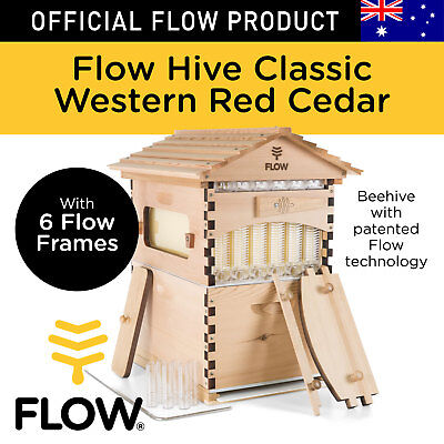 Flow Hive Classic Cedar 6 Frame Official - Beehive with patented Flow tech