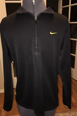 Men's Nike Dri-Fit 1/2 Zip Black Shirt Size M