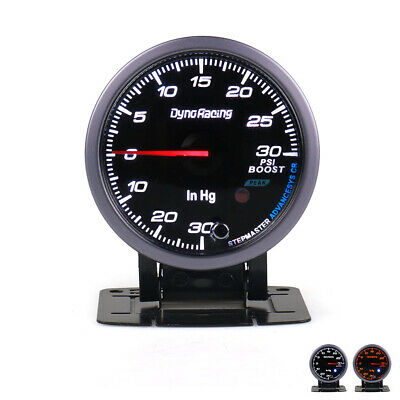 "Universal 2.5"" 60mm White/Amber LED Pointer Turbo Boost Gauge PSI Black Face"