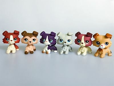 6 lot Littlest Pet Shop LPS Toy Collie Dog #363 #893 #1676  #2452 #1262 #1542