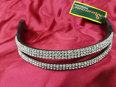 Rumani New Leather Crown browbands