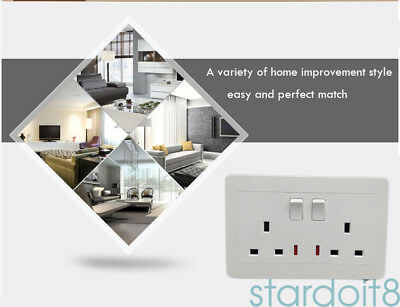 White Double Wall Socket Back Box Pattress Twin 2 Gang Switched Plug Electrical