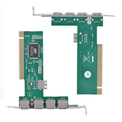 PCI-E PCI Express To USB2.0 5Port Expansion Card Adapter for Desktop PC