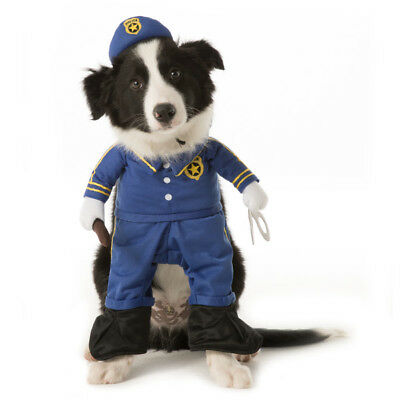 Policeman Halloween Dog Pet 2 Piece Costume Large (New with Tags)