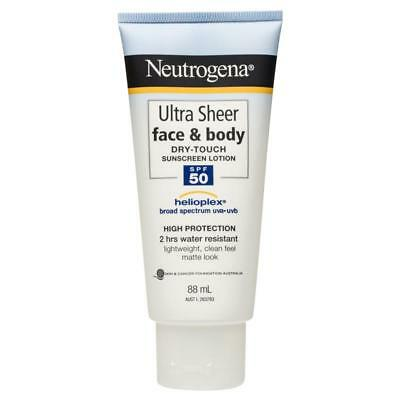Neutrogena Ultra Sheer Face & Body Dry-Touch Sunscreen Lotion Spf 50 88Ml