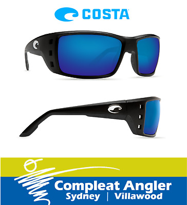Costa Del Mar Permit Black 400G Blue Mirror Sunglasses BRAND NEW At Compleat Ang