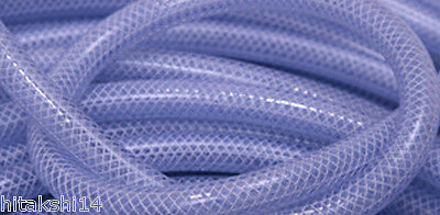 5 Mtrs X Braided / Multipurpose / Reinforced / High Pressure/ Garden Hose Clear
