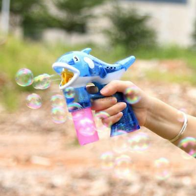 AU Dolphin Automatic Bubble Gun Flashing Musical Water Squirt Kids Outdoor Game