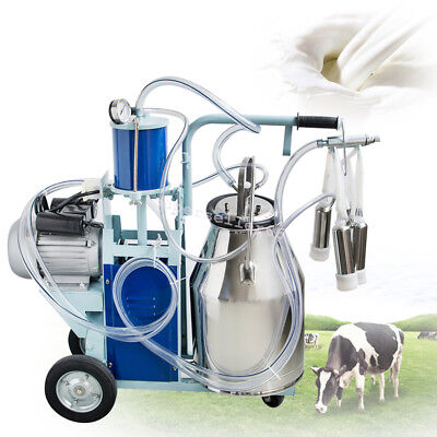 25L Stainless Bucket Electric Milking Machine Milker For Farm Cows 110V/220V CA!