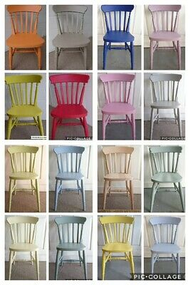 Brand New Solid Wood Farmhouse Slat Back Kitchen Dining Chairs Mix Colours