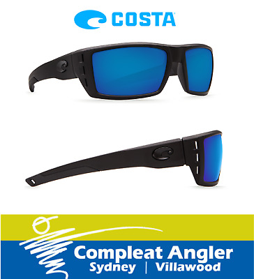 Costa Del Mar Rafael Blackout 580G Blue Mirror Sunglasses BRAND NEW At Compleat
