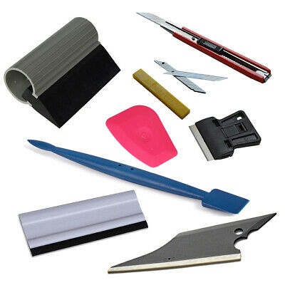 7 Car Tint & Clean Tools Kit Vinyl Wrapping Window Solar Film Turbo Squeegee UK