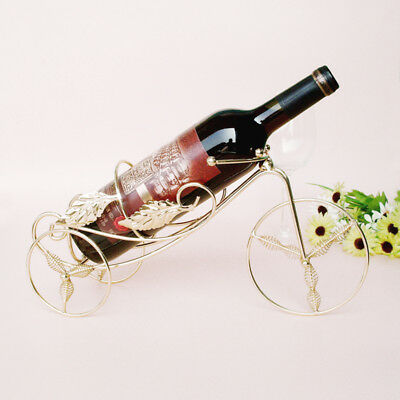 1PC Tricycle Wine Rac Supplies Stainless Steel Metal Crafts Metal Wine Holder