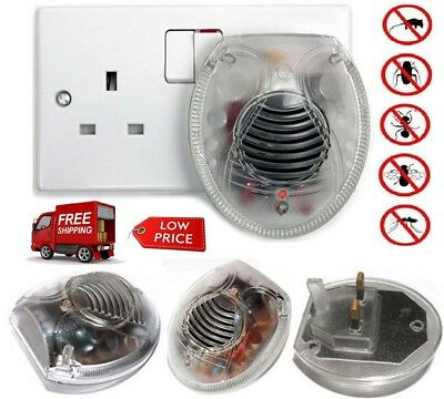 Whole House Electronic Ultrasonic Anti Spider Bug Cockroach Repellent