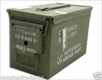 Ammo Box Can 50 Cal Ammunition Box  Steel Fully Sealed Ex Military Army