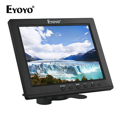 """Small 8""""  IPS Color FHD Monitor 4:3 Video Audio HDMI VGA New for CCTV DVD PC VCD"""
