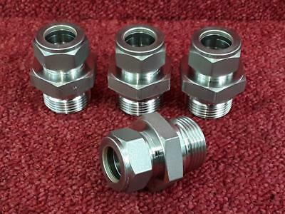 "4 x Swagelok Stainless Hydraulic Fitting 20mm Tube x 1""BSP 316RS-TUVA278/08-3E3"