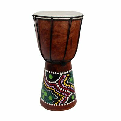 6 Inch African Djembe Percussion Mahogany Hand Drum with  Goat Skin Surface XT