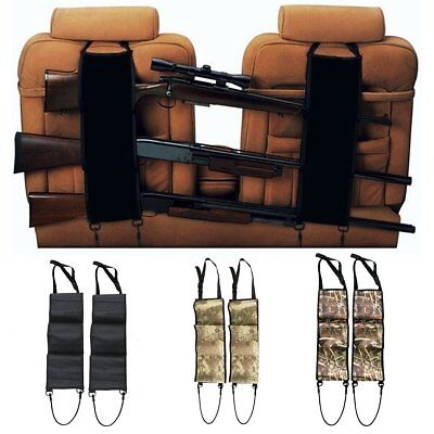 2 X Back Seat Gun Sling Rack Rifle Shotgun Storage Ammo Pickup Camo Truck Holder
