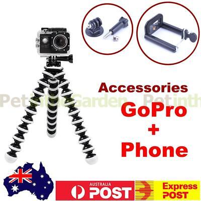 Flexible Octopus Tripod Stand For GoPro Camera Phone Selfie 2 in 1 Mount