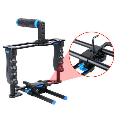 Alloy Camera Video Cage Film Movie Making Kit ,(1)Top Handle Grip(2)15mm Rod