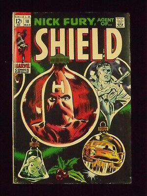 Nick Fury, Agent Of Shield, Vol. 1 No. 10, March, 1969, 6.0, F
