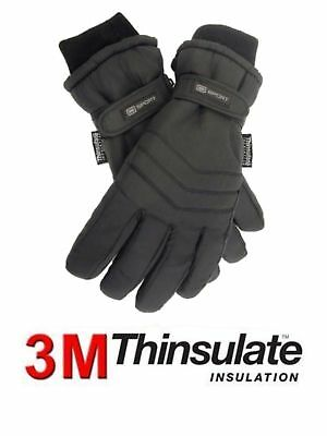 1 Mens 3M Thinsulate™ Insulation 40g Padded Thermal Winter Ski Gloves