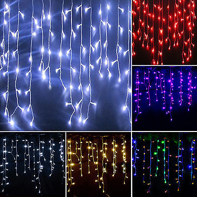 Icicle Hanging Curtain Fairy String Lights LED Christmas Wedding Party Outdoor