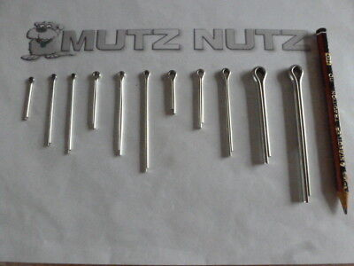 Split pins/Cotter pins Mixed bag of 50 Stainless Steel grade A2 (Pack 6)