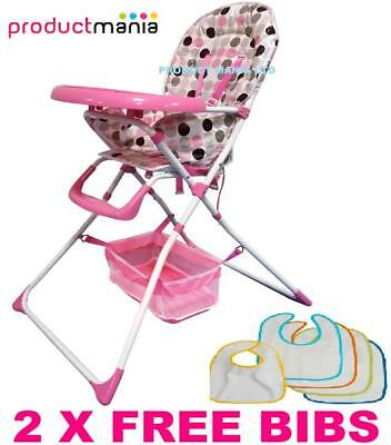 Brand New Beautiful Baby High Chair Foldable Highchair Feeding