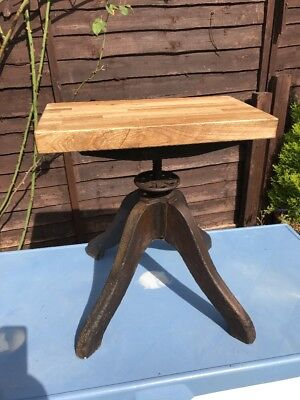 Vintage French Industrial Machinists Factory Seat Stool
