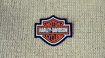 Harley Davidson Classic Orange  Logo Sew-on Patch - Made in The USA