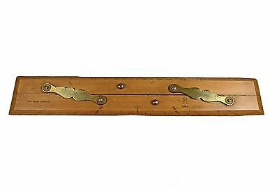 Vintage Boxwood Parallel Ruler Capt. Fields Improved, A.M. 1942.