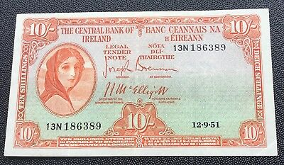1951 Central Bank of Ireland 10 shilling note
